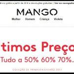 últimos preços Mango