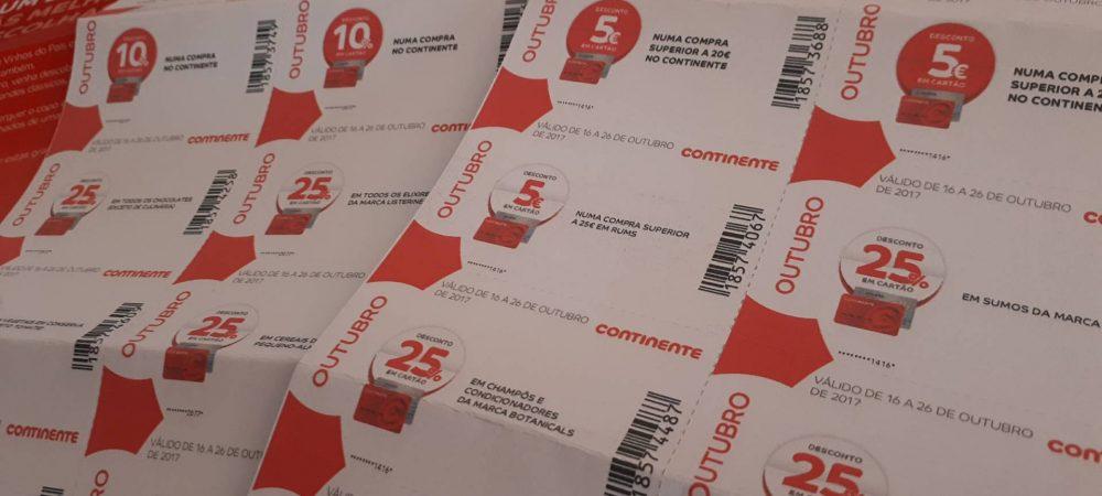 cupões 5€ continente