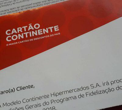 alterações cartão continente