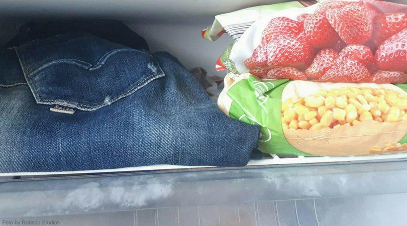 roupa no congelador