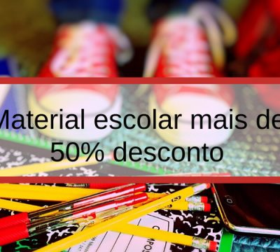 descontos material escolar
