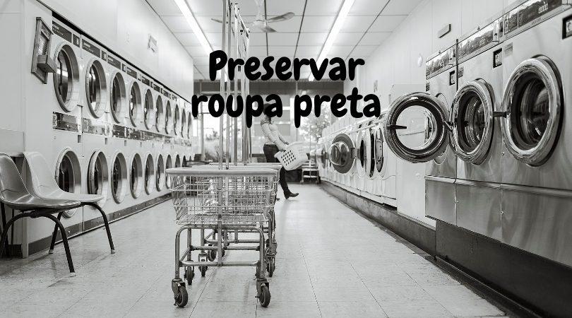 preservar roupa preta