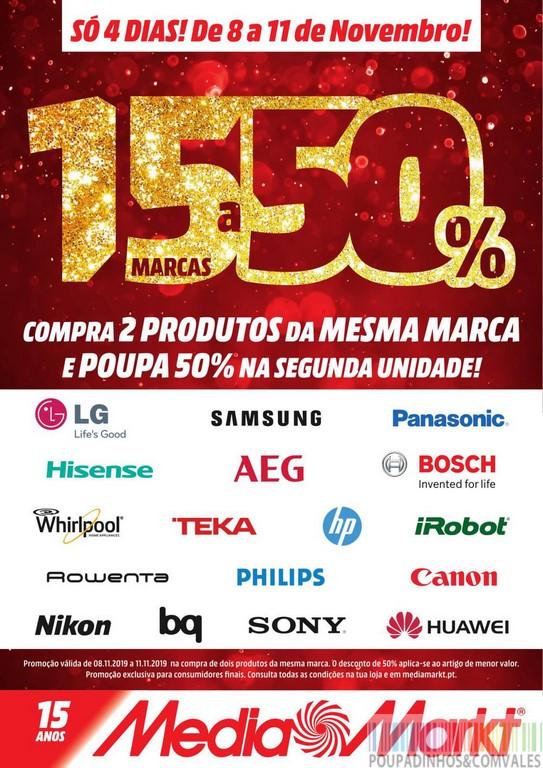 Media Markt - 15 Marcas a 50%. Para celebrar os 15 anos, a Media Markt tem esta nova campanha em vigor, entre os dias ...LER MAIS