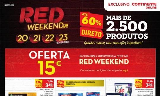 Antevisão Folheto Continente – Red Weekend