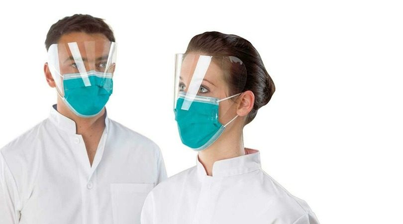 máscaras e viseiras