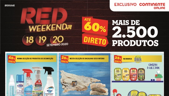 Folheto Continente – Red Weekend
