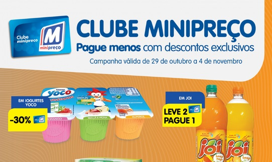 Novo Folheto Clube Minipreço